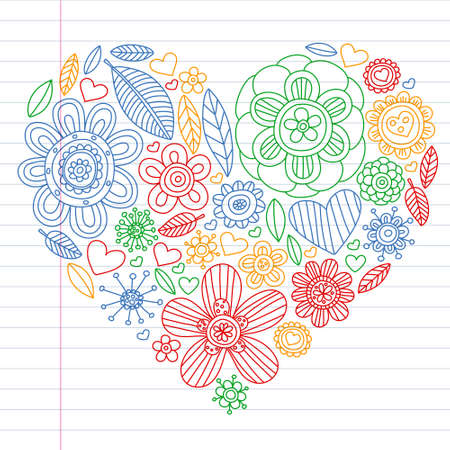 Flowers vector pattern. Background for wedding design, coloring page, book.