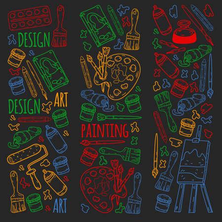 Creativity and imagination. Design college. Online education, internet school.