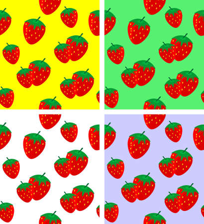 Seamless pattern with strawberries Stock Vector - 16138357