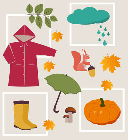 fall fashion: autumn collection Illustration