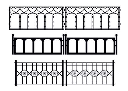 wrought: Wrought iron fence Illustration