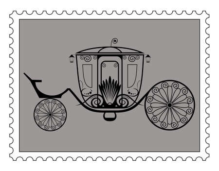 Carriage in Silhouette  Vector