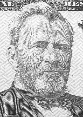 Hiram Ulysses Grant portrait from us 50 dollars