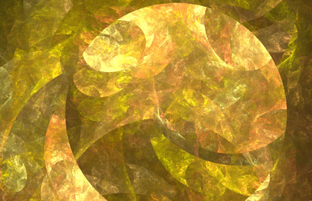 Abstract fractal texture with circle. Fantasy fractal texture. Digital art. 3D rendering. Computer generated image.