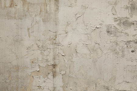 Old white grunge wall background or texture Banco de Imagens