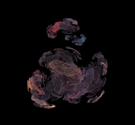 Purple red blue illustration fractal background.Fantasy fractal texture. Digital art. 3D rendering. Computer generated image