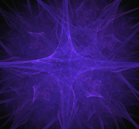 Purple abstract fractal. Fantasy fractal texture. Digital art. 3D rendering. Computer generated image. Stok Fotoğraf
