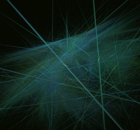 Green blue abstract lines fractal. Fantasy fractal texture. Digital art. 3D rendering. Computer generated image