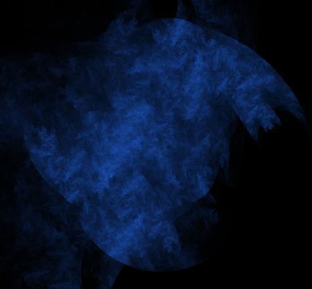 Nebulas blue fractal on black background. Digital art. 3D rendering. Computer generated image Foto de archivo - 112005212