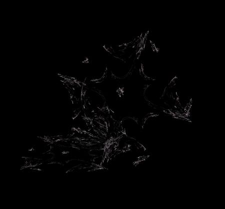 White Purple fractal background. Fantasy fractal texture. Digital art. 3D rendering. Computer generated image Stock Photo
