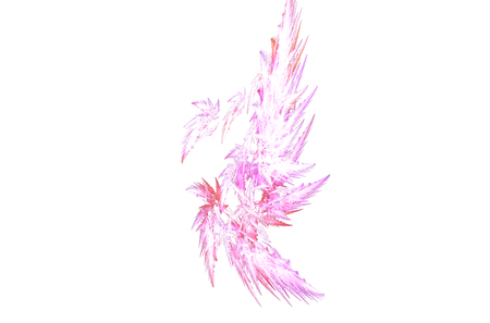 Modern with white pink red fractal on white background for decoration design. Love pink background. 版權商用圖片