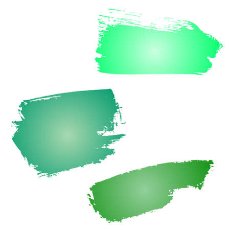 smears: Smears watercolors. Set watercolor brush strokes. Samples for design watercolors.