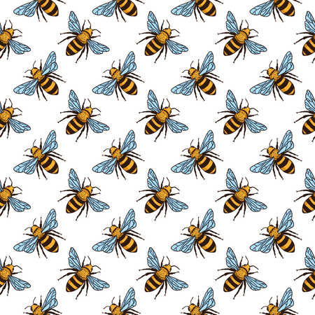 """Iron On Embroidered Patch Farm Honey Bees `/""""HONEY BEE FARM/"""""""