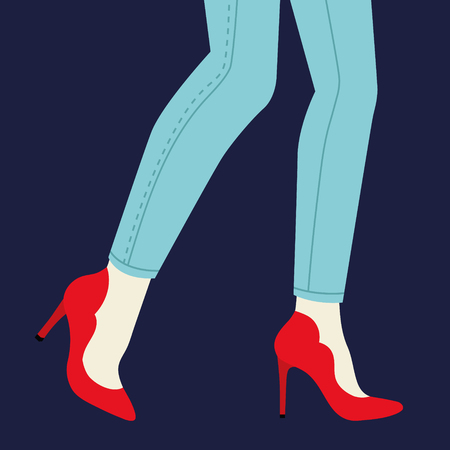 Bright shoes. Flat design style. Vector illustration. Standard-Bild - 121161099