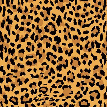 Patrón transparente de vector. Textura de piel de leopardo Ilustración de vector