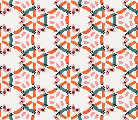 Vector colorful seamless pattern in boho style