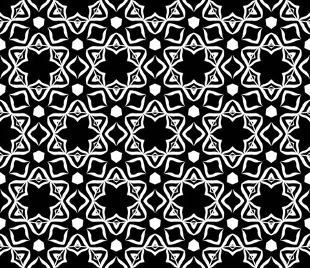 Vector seamless geometry black and white pattern