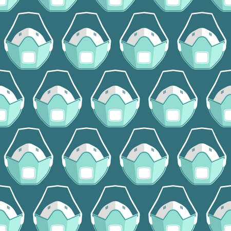 Vector seamless pattern with medical masks and respirators Imagens - 161041265