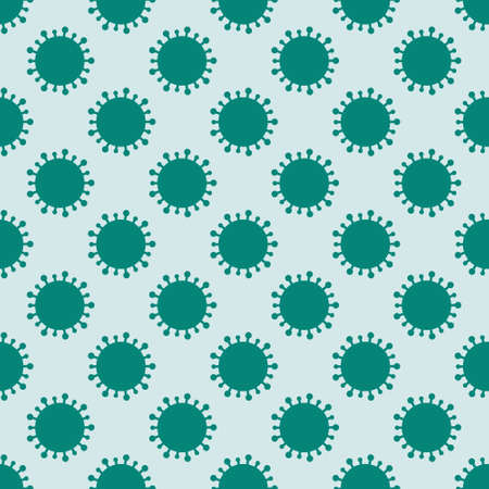 Vector seamless pattern design with abstract viruses