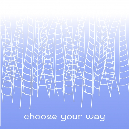 rope ladder: many white rope ladders leading to a blue sky Illustration