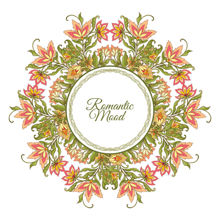 mendie: Vintage Flowers Design Vector Element with Text Place for invitations and cards Illustration