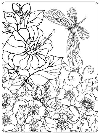 Charmant Malvorlagen Blumen Und Vögel Ideen ...