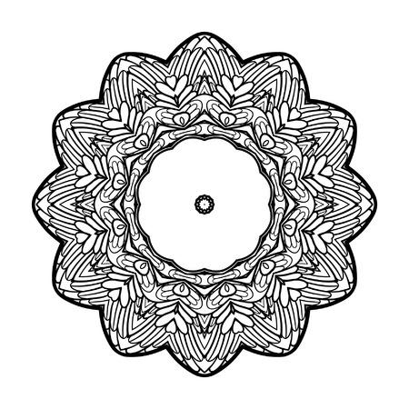 Mandala Decorativa. Ilustración Del Vector. Bueno Para Colorear ...