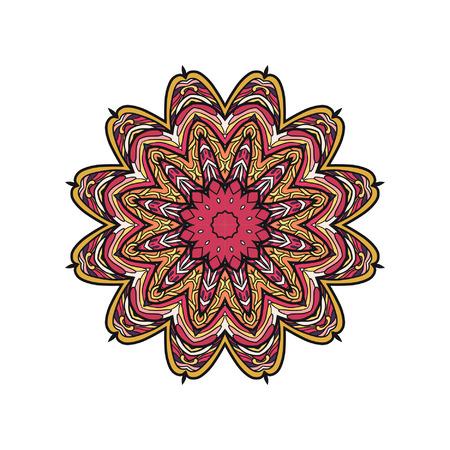 model motive: Colored decorative mandala.