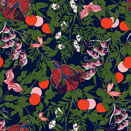 morris: Vintage Floral seamless pattern.  Vector illustration.