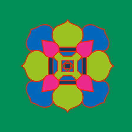 tibet: Tibet ethnic mandalas and elements. Vector illustration.