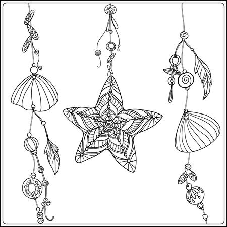 Sea Shell. Element von Sea Boho Sammlung. Vektor-Illustration. Standard-Bild - 57929227