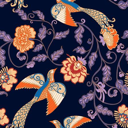 Vintage floral patrón transparente. Ilustración del vector.