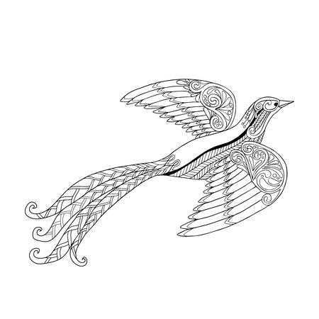 Dekorative Vogel. Malbuch Für Erwachsene Und ältere Kinder ...