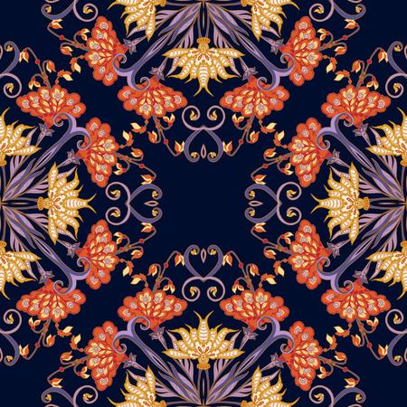 Seamless middle eges  floral vintage pattern. Vector illustration. Ilustração