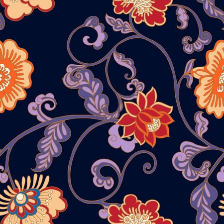 william: Vintage floral seamless pattern.  Vector illustration.