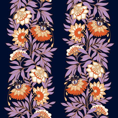 edad media: Edad Media floral sin fisuras patr�n de la vendimia. Ilustraci�n del vector. Vectores