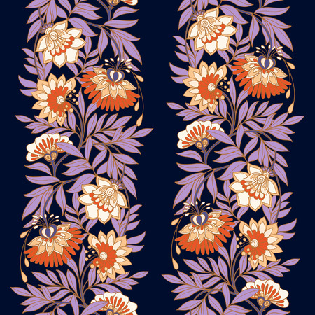 the middle ages: Seamless middle ages floral vintage pattern. Vector illustration.