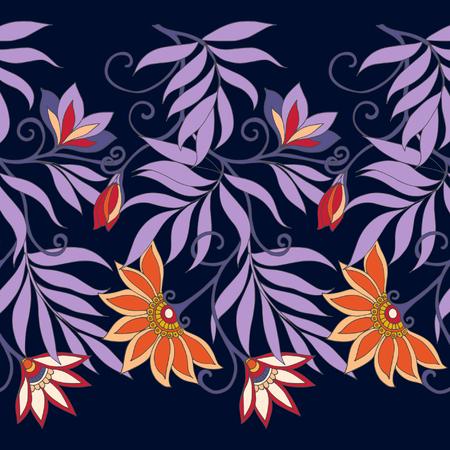 william: Seamless middle eges  floral vintage pattern. Vector illustration. Illustration