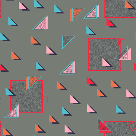 striped band: Vector Seamless Pattern . Seamless Texture . Triangle Geometric Shapes in Grunge Style . Vintage texture. Illustration