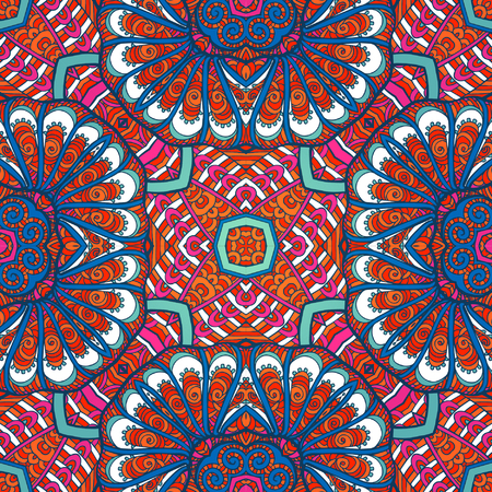 Seamless pattern. Tibet ethnic style. Vector illustration. Иллюстрация