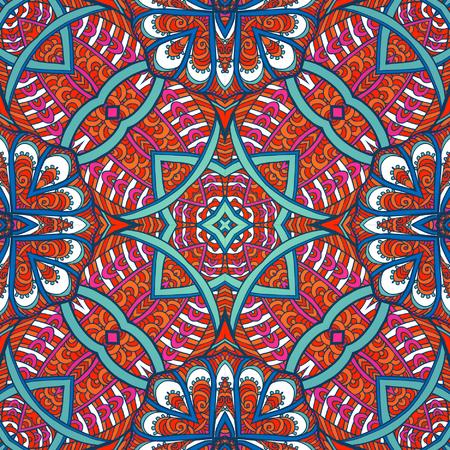 tibet: Seamless pattern. Tibet ethnic style. Vector illustration. Illustration