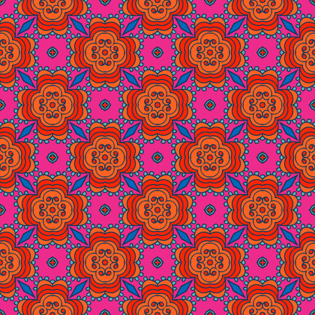 Seamless pattern. Tibet ethnic style. Vector illustration. 矢量图像