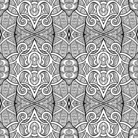 dessin au trait: Seamless eihnic tibet. Dessin au trait. Vector illustration.