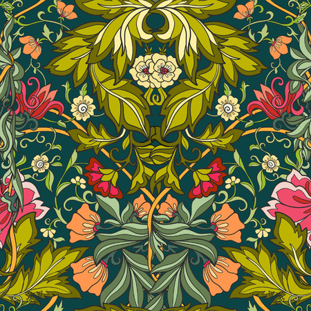 Floral seamless pattern in middle ages style. Фото со стока - 60088592