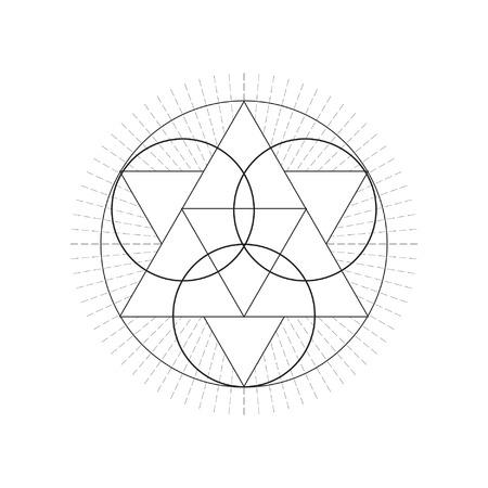 神聖な geametry のシンボル。ベクトルの図。