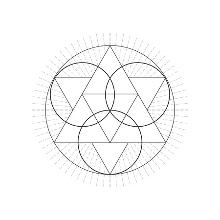 Sacred geametry symbol. Vector illustration. Ilustrace