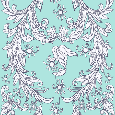 morris: Floral seamless pattern in middle ages style.