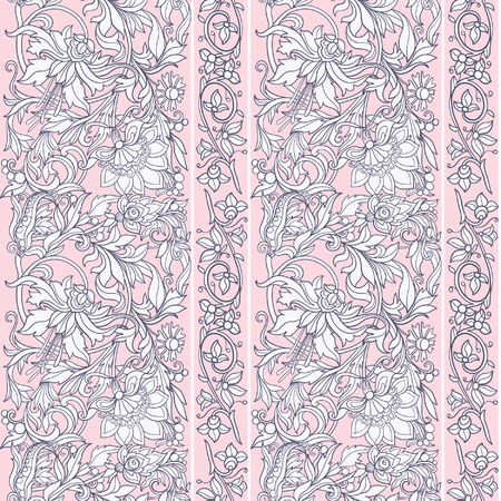 william: Floral seamless pattern in middle ages style.