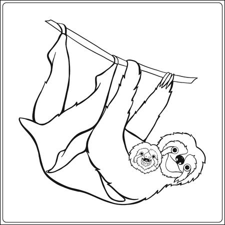 Sloch Lindo Decorativo. Esquema De Ilustración Vectorial. Libro De ...