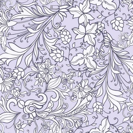 Floral seamless pattern in middle ages style. Фото со стока - 60503050